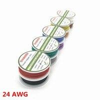 6 m 24 AWG Flexible Silicone Dây RC Cáp 24AWG Đường Kính Ngoài 1.6 mét Dòng Với 10 Màu Sắc để Lựa Chọn với Spool