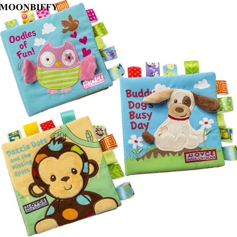 New 1 Pcs Baby Soft Toys Animal Embroidered Cloth Book Newborn Early Development Activity Books Baby Kids Gifts