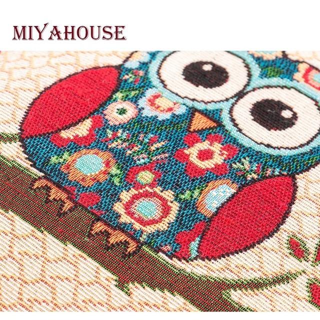 Casual Cartoon Printed Canvas Shoulder Bag Women Embroidery Owl Crossbody Bag Stars Print Messenger Bag 5