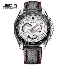 2016 JEDIR Marca Del Deporte Militar Hombres Relojes de Primeras Marcas de Cuarzo-reloj de Cuero de Lujo de Negocios Hombre Reloj Relogio masculino