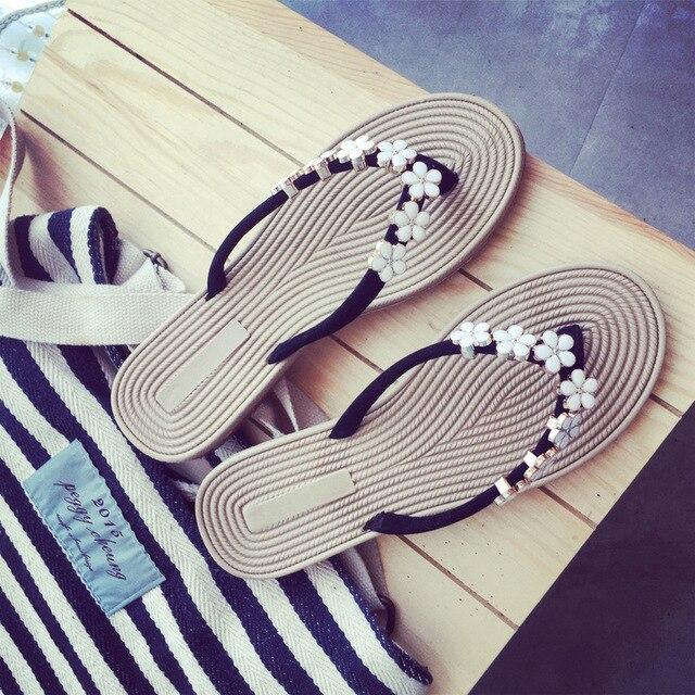 Mulheres Praia Flip Flops 2019 Nova Moda Deslizamento Em Sandálias de Verão Mulher Sapatos Baixos Confortáveis Calçados Femininos Chinelos Flip Flop