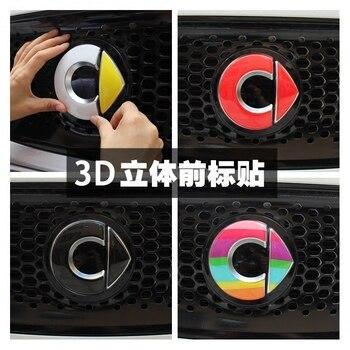 Standard di 3D Smart Fortwo Anteriore Autoadesivo di Marchio Dell'automobile Auto Decorazione Auto Adesivi Etichetta Decal Car Styling 2015 Nuovo Accessori per Articoli Elettronica smart