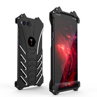 R JUST Outdoor Cool Aluminum Metal Shockproof Cover Shell Case With a Bat Bracket for Smartisan NUT R1 Protector Coque Funda