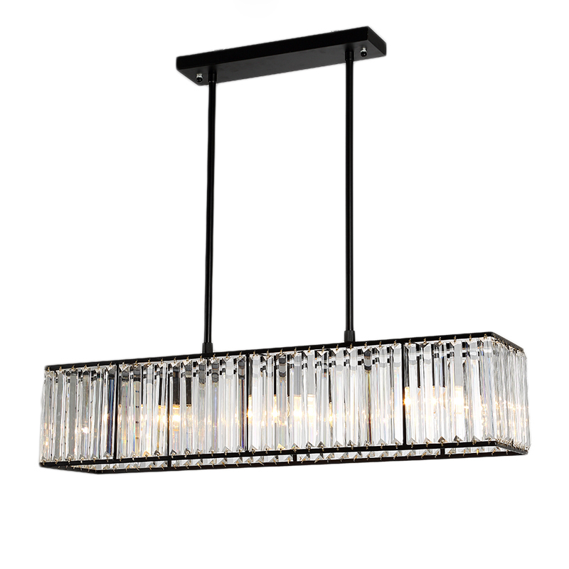 Rectangular Chandeliers Island Kitchen Lighting Modern Long Rectangular Lamp Dining Room Island