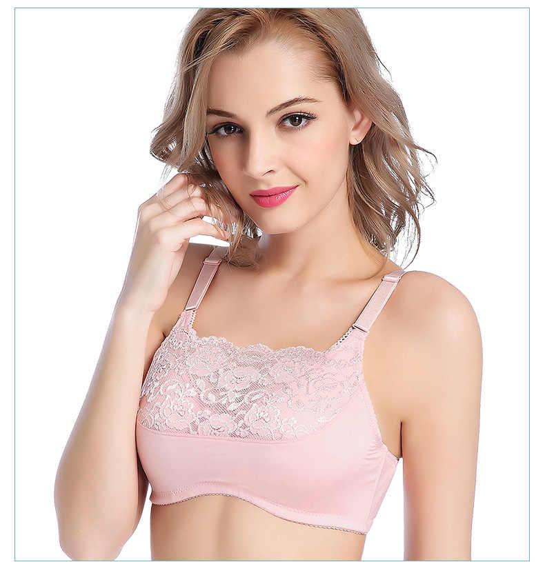 12e8ac76f0 Lady After Surgery Lace Bra Women Breast Cancer Push Up Lingerie Girls  Strapless Pocket Bra Sujetador