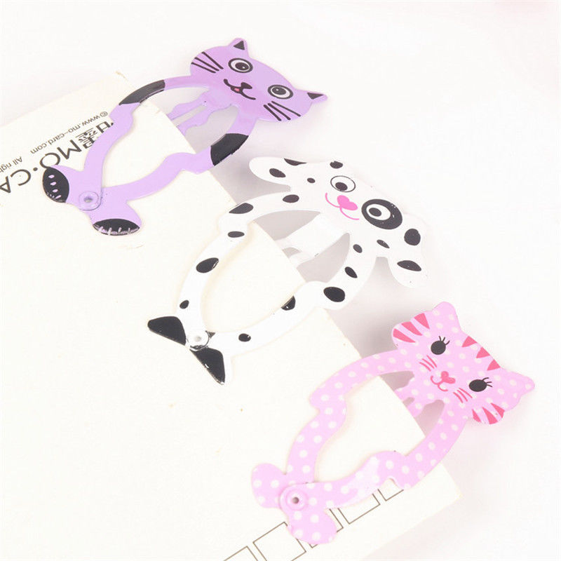 HTB1DIffQXXXXXXaaXXXq6xXFXXXw Cute 6-Pieces Dog Cat Bunny Hair Snap Clip Set For Women/Children