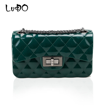 LUCDO Women Mini Silicone Messenger Shoulder Bags Candy Color Chain Crossbody Jelly Bag Female Small Pochette Sac A Main Femme shoulder bag