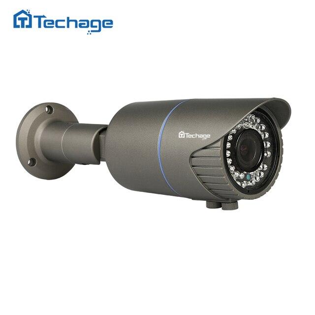 Techage H.265 أمن الوطن 4MP POE IP كاميرا في الهواء الطلق 2.8 مللي متر 12 مللي متر بمحركات التكبير عدسات أوتوماتيكية كاميرا تلفزيونات الدوائر المغلقة الأشعة تحت الحمراء للرؤية الليلية P2P Onvif