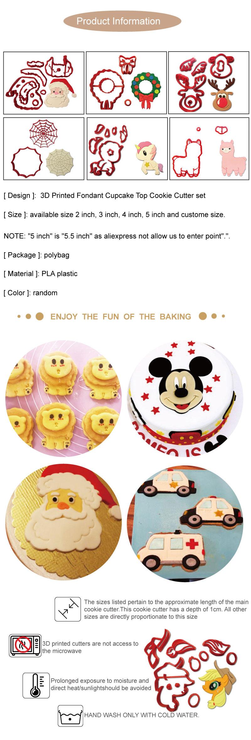 Cartoon Character 206 Cookie Cutter Set