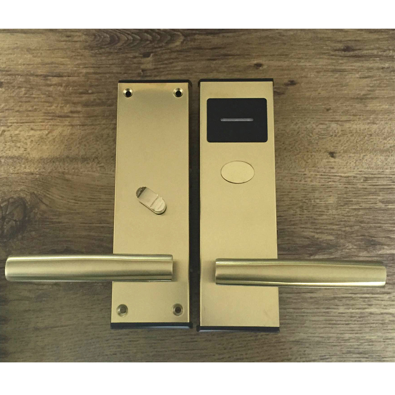 Electronic Door Lock Intelligent RFID Card with Key Lock For Home Office Hotel Room Smart Entry Stainless Steel lk110SG rfid t5577 hotel lock stainless steel material gold silver color a test t5577 card sn ca 8006