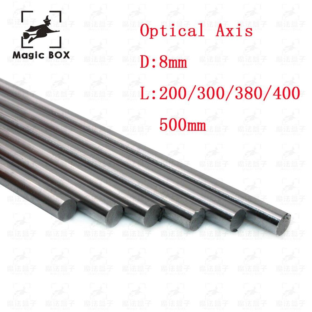 Optical Axis OD 8mm x 200/300/380/400/500mm Cylinder Liner Rail Linear Shaft chrome For 3D Printer & CNC 2pcs/lot 2pcs lot 8mm 8x450 linear shaft 450mm 3d printer 8mm x 450mm cylinder liner rail linear shaft axis cnc parts