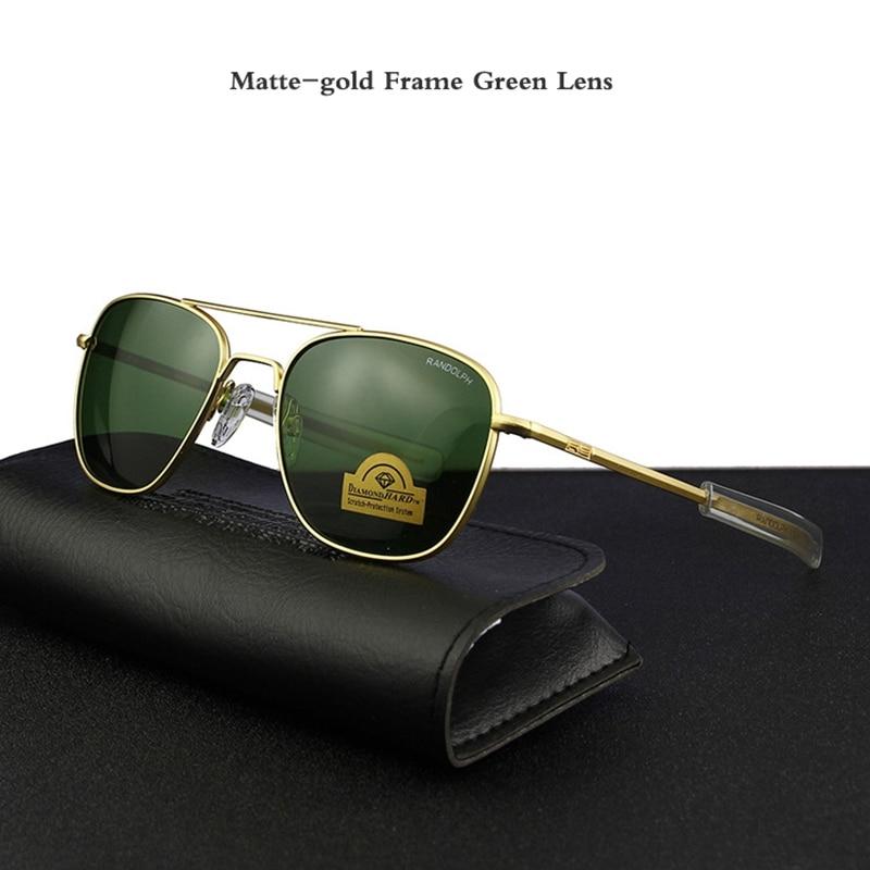 Matte-gold Frame Green Lens