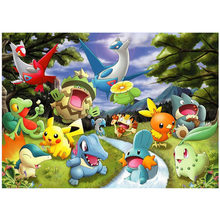 5D Diy Diamant Malerei Cartoon pokemon Kreuz Stich Diamant Stickerei Voll Platz Kreis Wand Kunst Hochzeit decorationZP-1802(China)