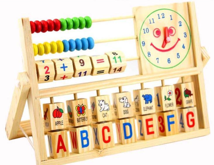 Безкоштовна доставка, освітні іграшки, багатофункціональні усмішки годинник обчислення кадр, дерев'яні іграшки, раннього дитинства навчання СНІД