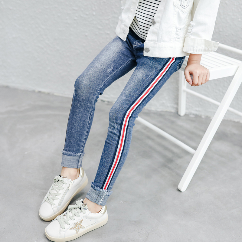 Girls jeans leggings new 2020 spring kids clothes gradient ultra big girls  elastic skinny pants children trousers 3 to 14 years Jeans  - AliExpress