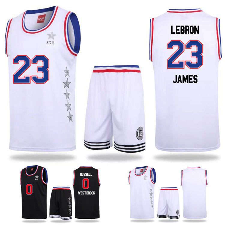 f6551387a65c 2015 new arrivalWest East all star sport basketball uniforms jerseys set  customized name   number good quality men s clothing-in Basketball Jerseys  from ...