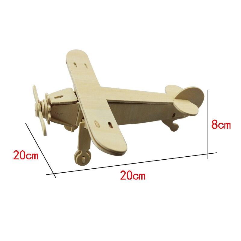 Novi 1Pc zrakoplovi Serijski 3D Drveni Puzzle Vivid Drveni Model - Igre i zagonetke - Foto 5