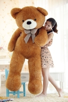 stuffed animal largest 170cm tie teddy bear plush toy brown teddy bear doll gift t6096