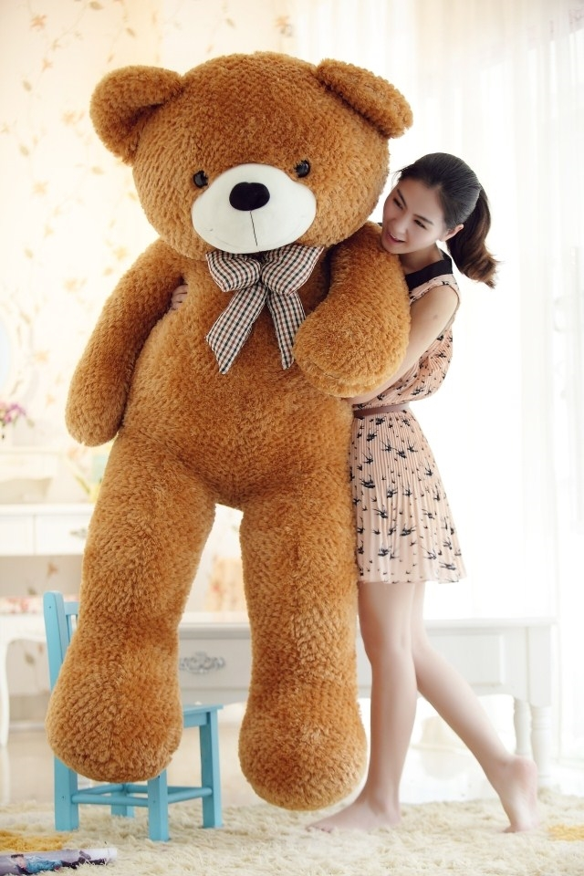 stuffed animal largest 170cm tie teddy bear plush toy brown teddy bear doll gift t6096 stuffed animal 120 cm cute love rabbit plush toy pink or purple floral love rabbit soft doll gift w2226