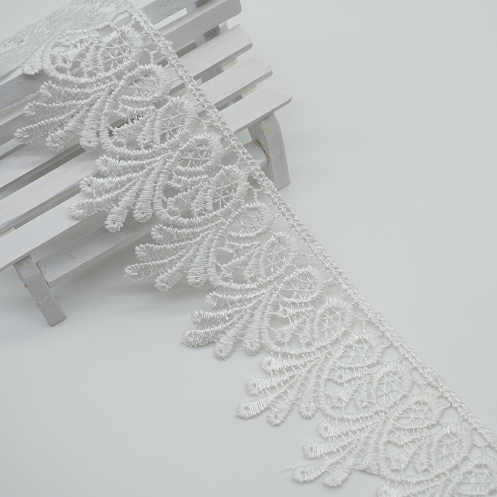 2 Yards Grey Lace Embroidery Curtain Lace Trims Handmade Sewing Craft DIY