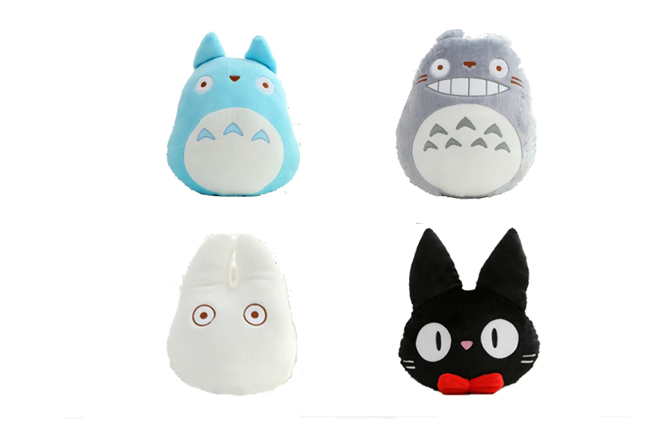 Japan Anime TOTORO Plush Toy Soft Stuffed Pillow /Cushion Cartoon White Totoro Doll / KiKis Delivery Service Black Cat Kids Toys cute 45cm stuffed soft plush penguin toys stuffed animals doll soft sleep pillow cushion for gift birthady party gift baby toy