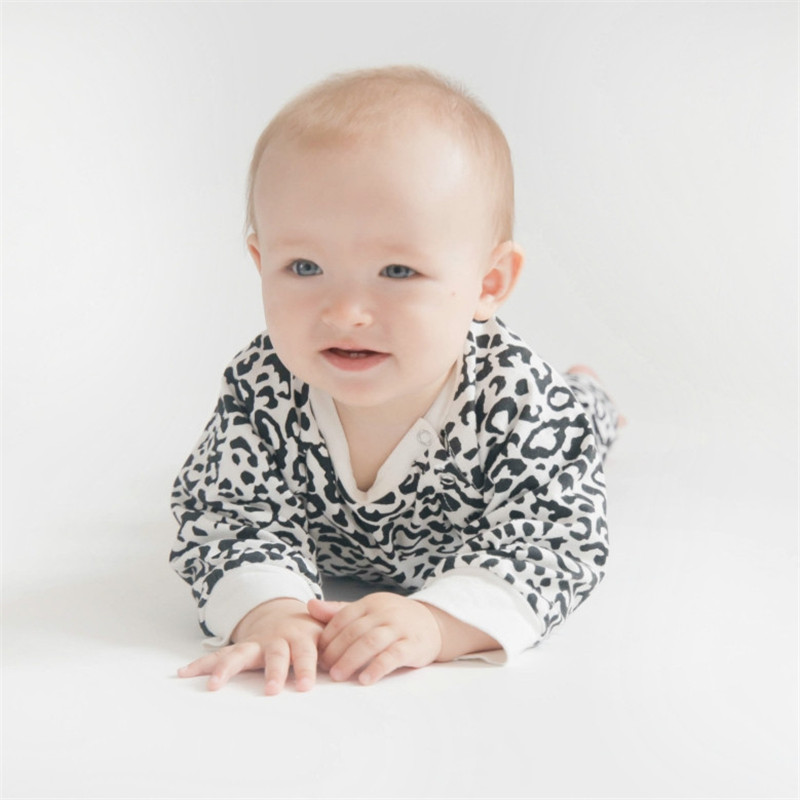 Infant girl outfits Leopard baby clothes set toddler girl long sleeve top cotton baby boy clothes
