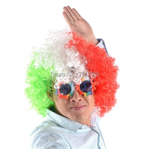 Erwachsene und Kinder Multicolor Farbe kurze lockige Afro Haare - Partyartikel und Dekoration - Foto 3