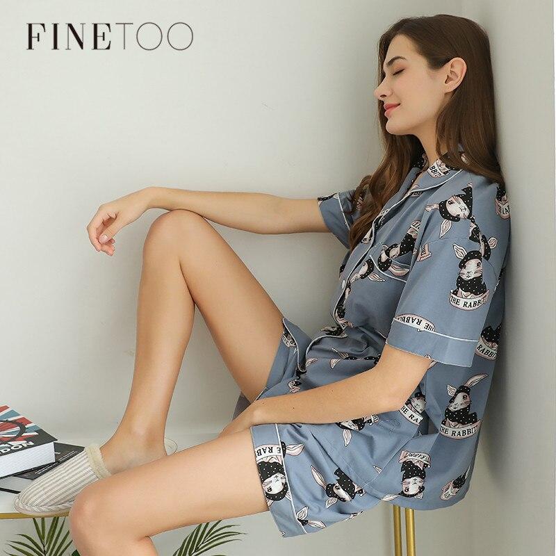 Fashion   Pajamas     Sets   Comfort Rabbit Sleepwear Lingerie Cute Short Clothes Female Underwear Big Size Nightwear Girls   Pajamas   2019