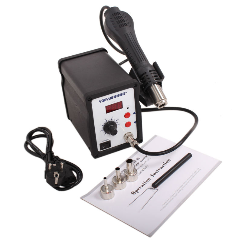 ФОТО Free shipping Electric iron 858D + soldering station digital iron soldering station BGA rework soldering station hot air gun
