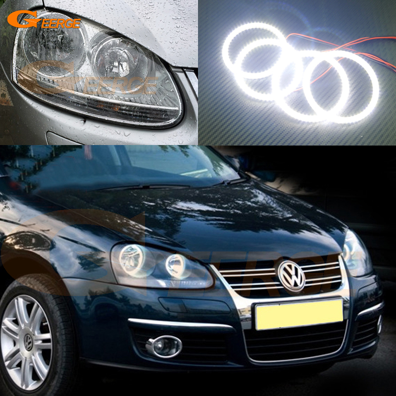 For Volkswagen VW Sagitar 2006 2007 2008 2009 2010 Excellent Angel Eyes Ultra bright illumination smd led angel eys kit for vw for skoda octavia led headlamp angel eyes 2007 2009