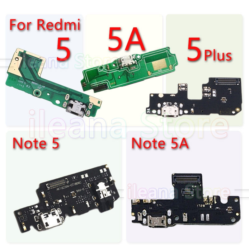 For Redmi 5 5A Plus PCB USB Connector Port Board FPC Dock Charging Flex Cable For Xiaomi Redmi Note 5 5A