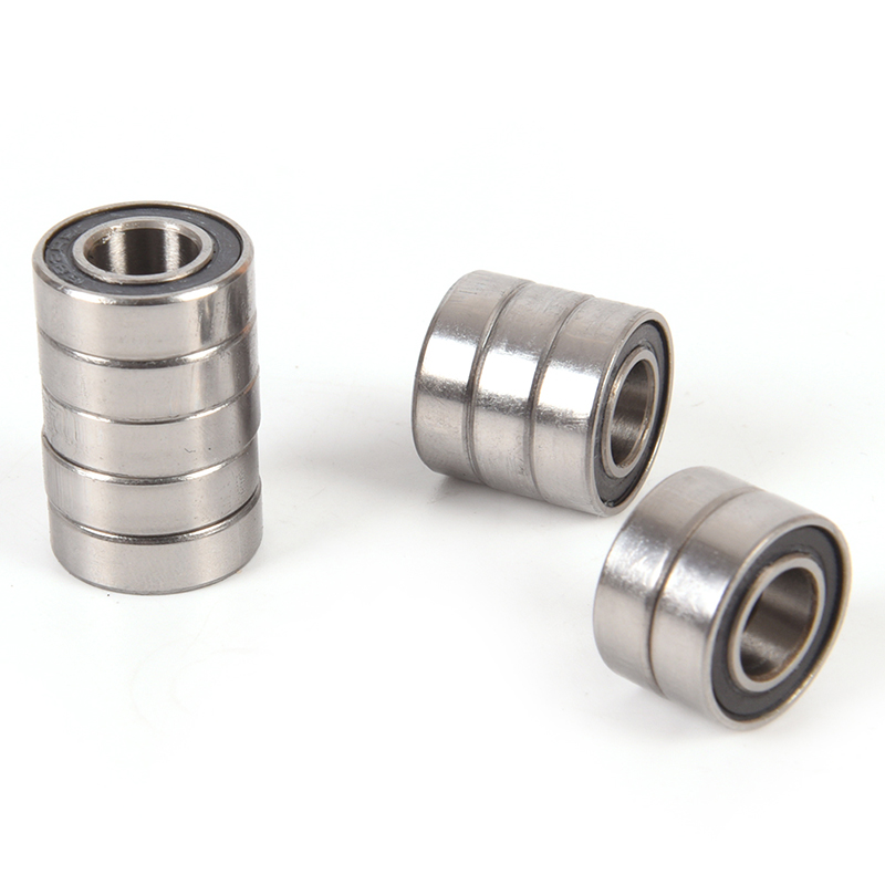 10PCS Metal Shielded Metric Radial Ball <font><b>Bearings</b></font> <font><b>688</b></font>-<font><b>2RS</b></font> 688RS Miniature Ball <font><b>Bearings</b></font> Deep Groove Ball <font><b>Bearing</b></font> Rubber image