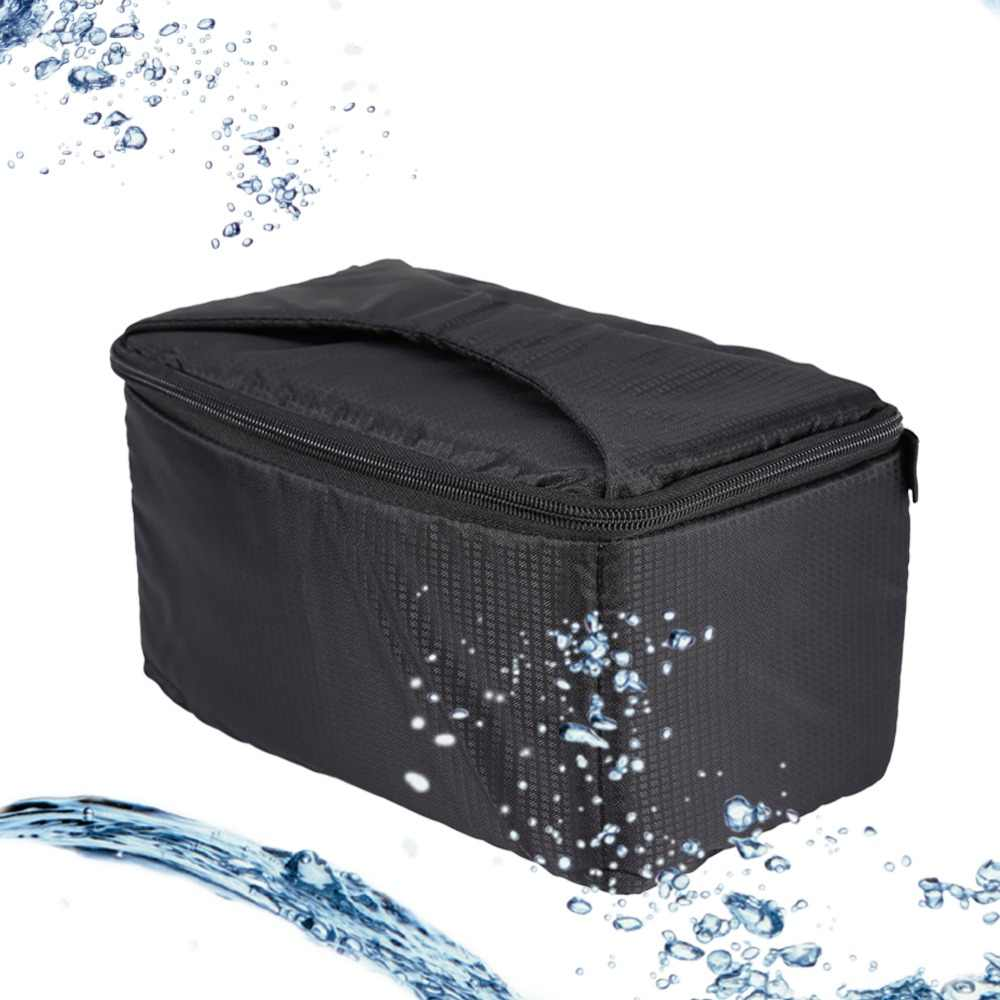 Waterproof Camera Padded Partition Protective Insert Bag Case For Camera Lens Flash Case