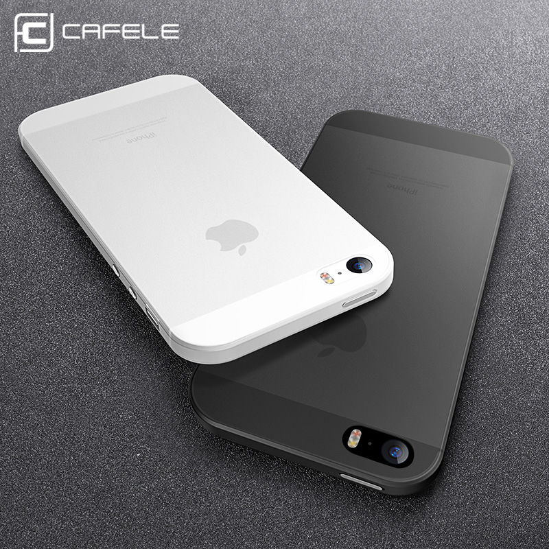 CAFELE Clear Case para iPhone SE 5S Fundas Super Slim PP Phone Cover para iPhone SE 5 5S Ultra Thin Transparent flexible shell