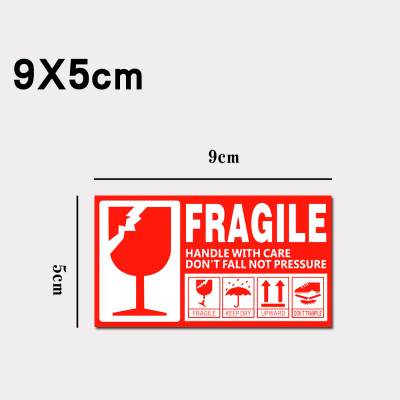 9x5cm fragile keep dry upward do not trample stickers label for care