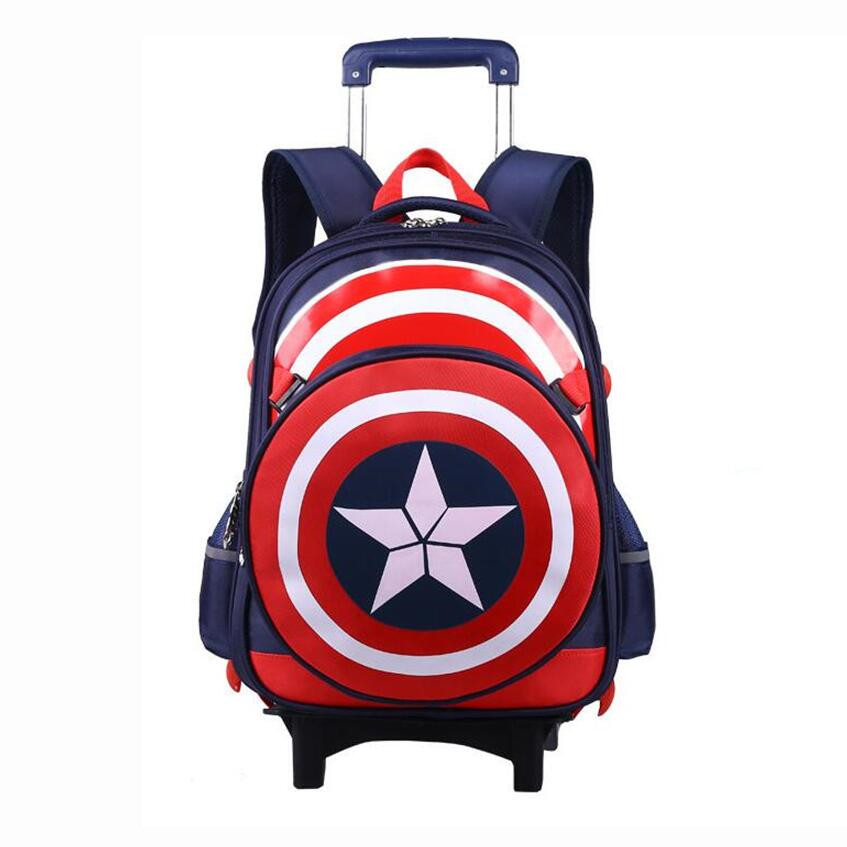 limited offer boys school bags kids backpack with wheels boy