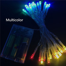 2M 20 Battery led string light 3 AA Powered Decoration LED for Wedding Christmas Party garland lights outdoor decor