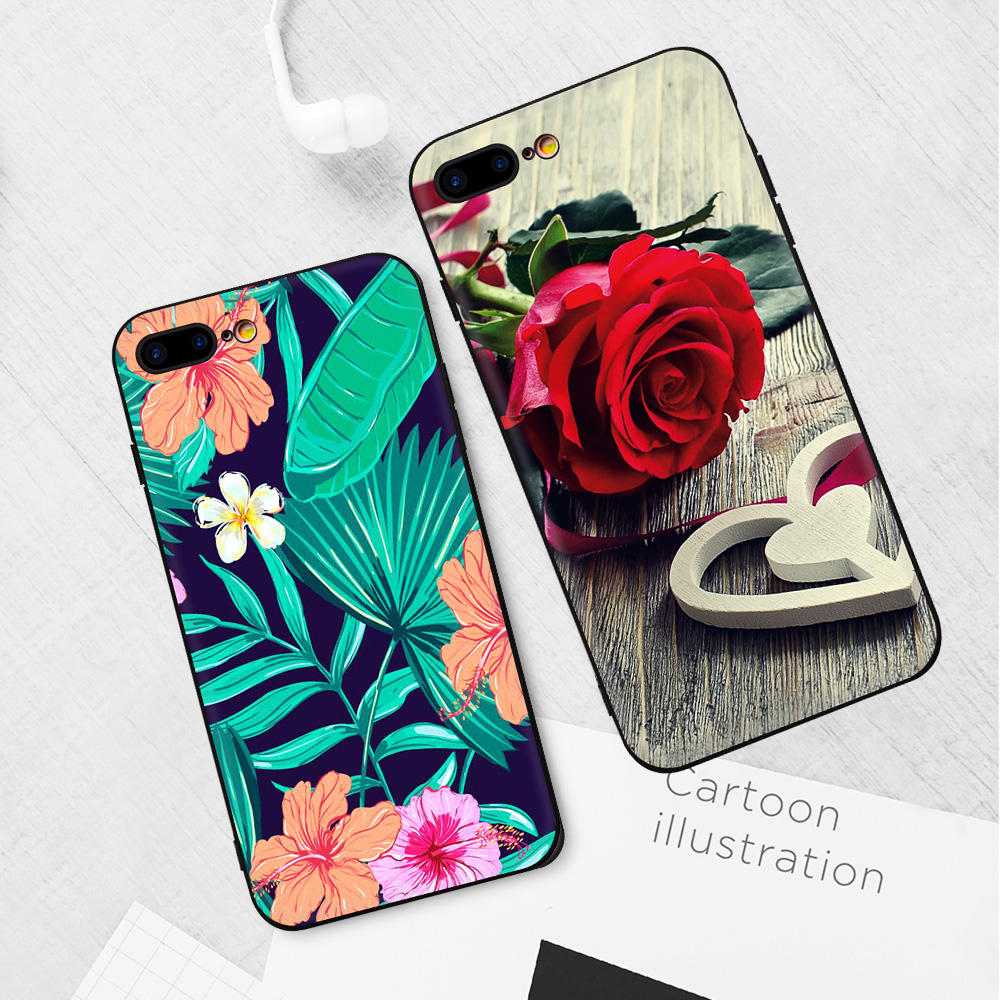 Matte TPU Phone Cases For iPhone 7 8 6 S 6S Plus X XR XS Max Printing Cat Pink Girls Patterned Silicone Cover Cases For iPhone X
