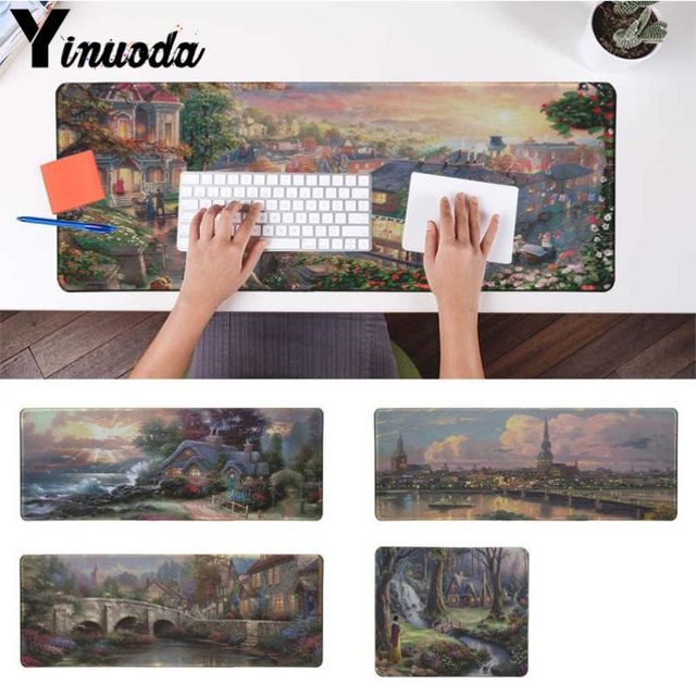 Yinuoda Boy Gift Pad New Day Fantasy Cottage Beautiful Anime Mouse Mat Size for 18x22cm 20x25cm 25x29cm 30x90cm 40x90cm