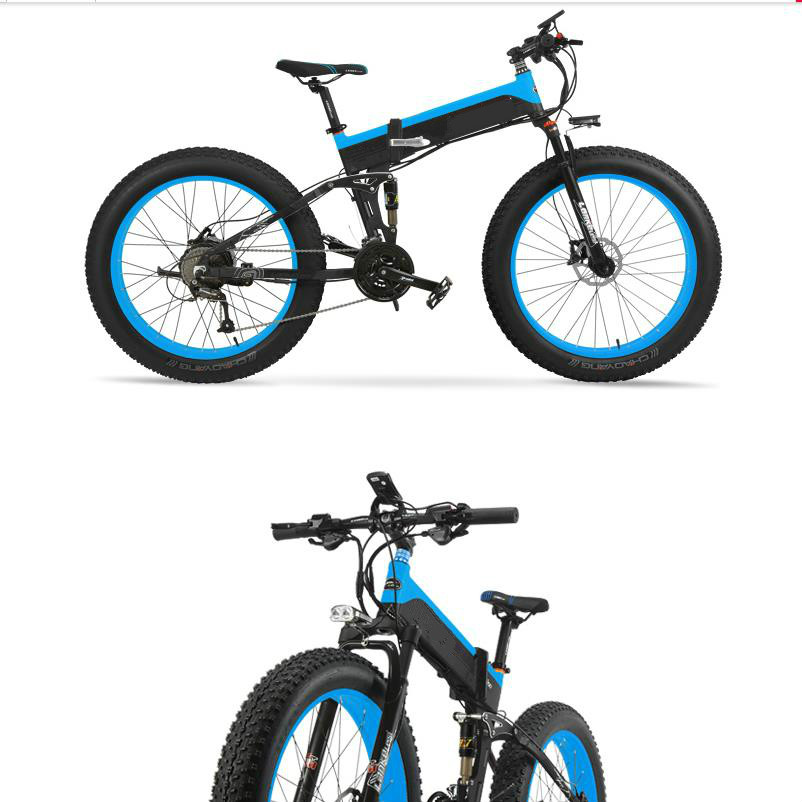 d182c223038 Kalosse Folding frame electric beach bicycle M4000 electric snow bike 8A  48V 350W 27 speed mountain bike-in Electric Bicycle from Sports &  Entertainment on ...