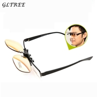 GLTREE New Technologies Color Blind Clip on Eyeglasses Men Red Green Blindness Glasses Correction Colorblind Driver Eyewear G407