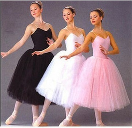 Free Shipping 5 Layers Black and White Swan Lake Ballet Dance Tutu Costume Women Balet Leotard Female Adult Long Ballerina Dress