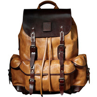 Рюкзак роскошные мужские сумки натуральная кожа большой Ёмкость Ретро сумка Военная Стиль дорожная сумка