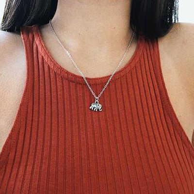 Ltumbe シンプルなスタイル象スタームーンラブハートネックレス模擬真珠ペンダントネックレス女性党ギフトジュエリー