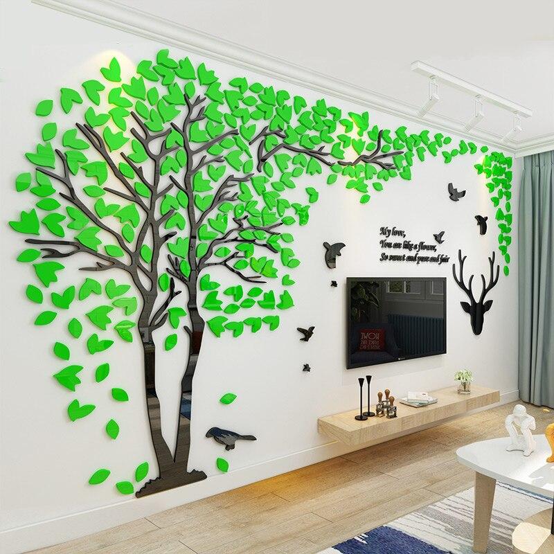 aliexpress : buy creative tree acrylic 3d wall sticker living