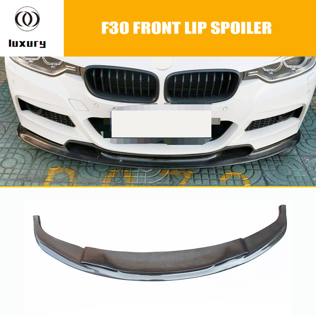 F30 Vrs Style Carbon Fiber Front Bumper Lip Chin Spoiler For Bmw F30