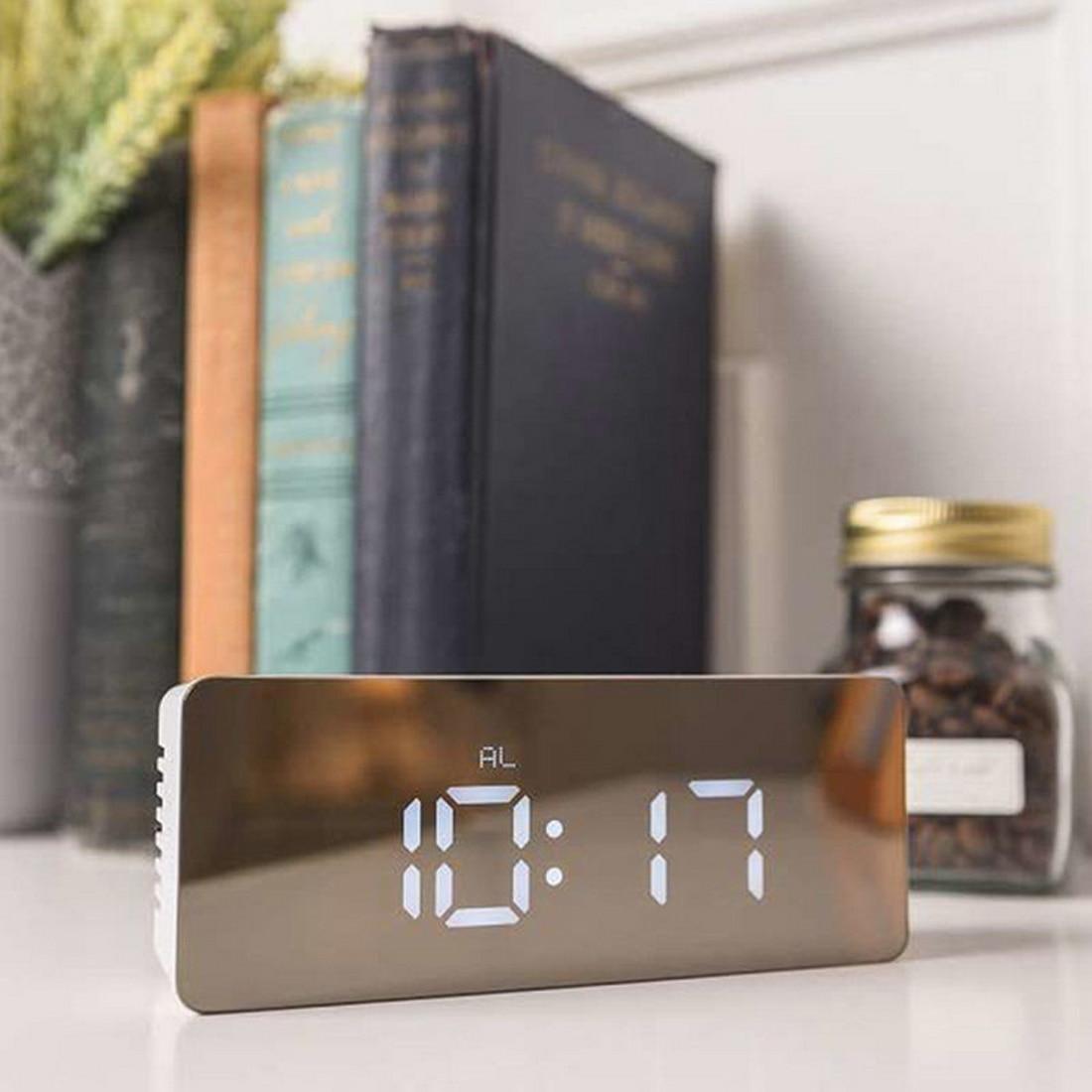 Modern Square Rectangle Multi Function Desk Clocks Digital