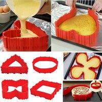 2017 New Hot Sale 4Pcs Lot Magic Bake Snakes Food Grade Silicone Cake Mold Bake Diy