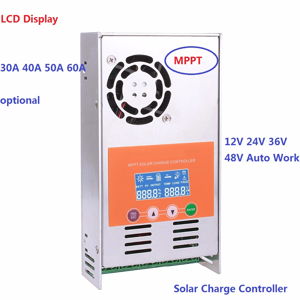 High Efficiency MPPT LCD Display 30A 40A 50A 60A Solar Charge Controller 12V 24V 36V 48V Solar Charge Controller 60a 12v 24v 48v solar charge controller engineering premium quality com rs232 with pc page 1