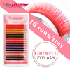 Misslamode 8 Colors 16rows Rainbow Eyelash Extension color False Fake Lashes eyelashes false eyelash 0.07/0.10 1pc/lot 1